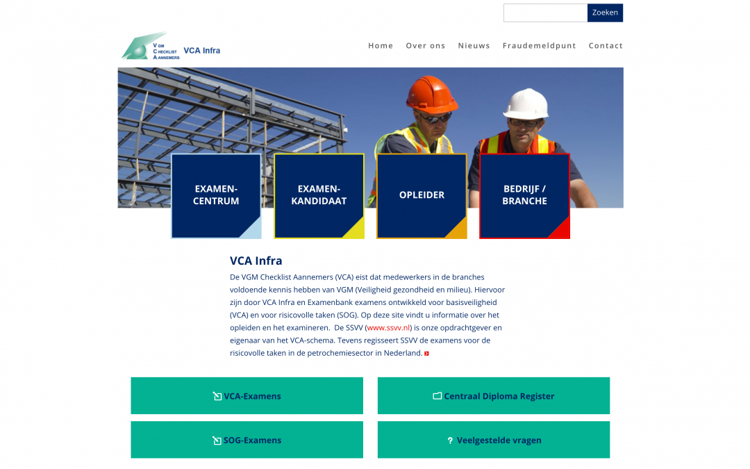 redesign website vcainfra